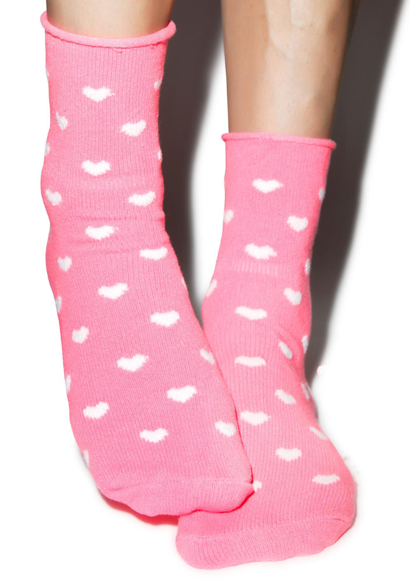 Plush Head Over Heels Fleece Socks
