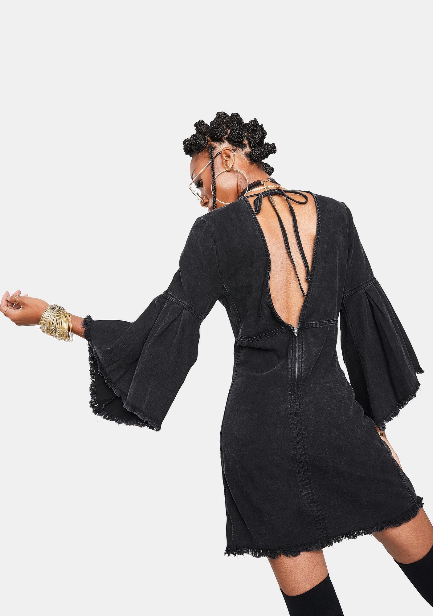 Free People Reckless Life Denim Dress