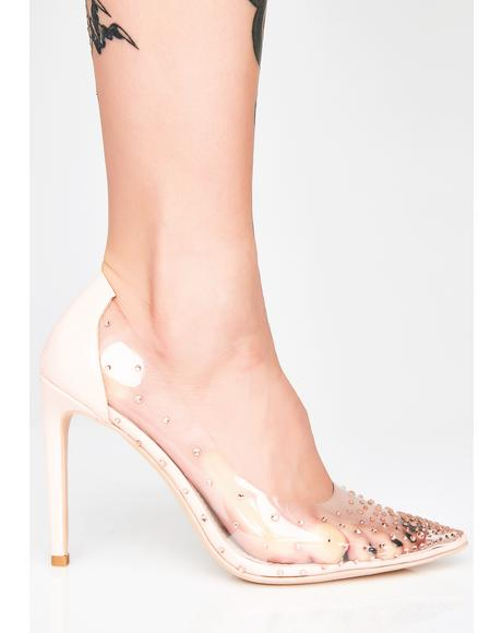 Crystal Treasures Clear Heels
