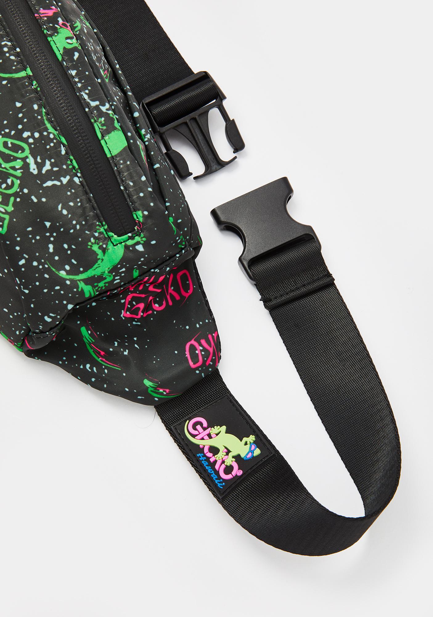 Gecko Hawaii Wild Gecko Shoulder Fanny Pack