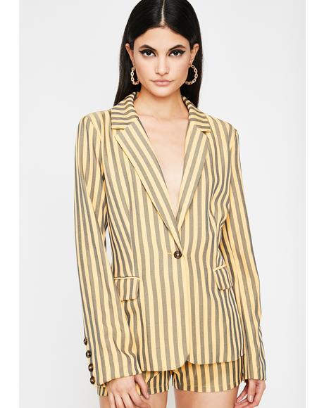 Diva Edition Stripe Blazer