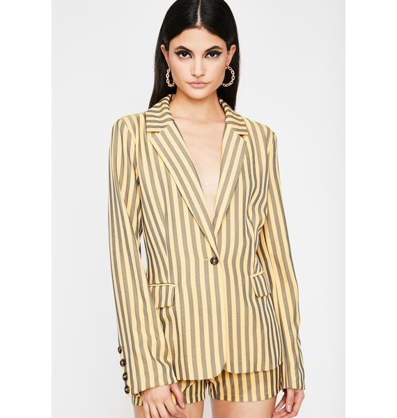Diva Edition Stripe Blazer