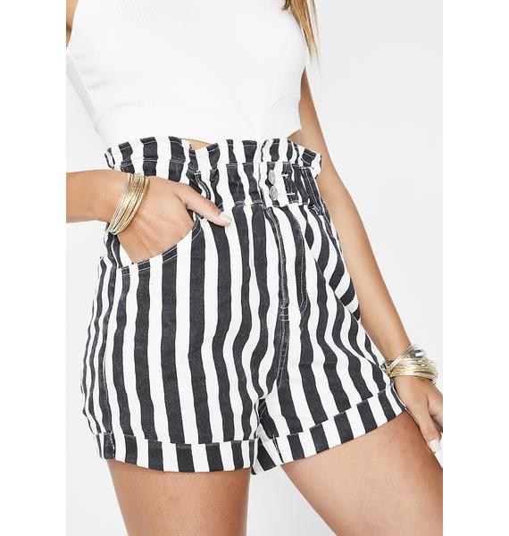 No Tears Left Striped Shorts