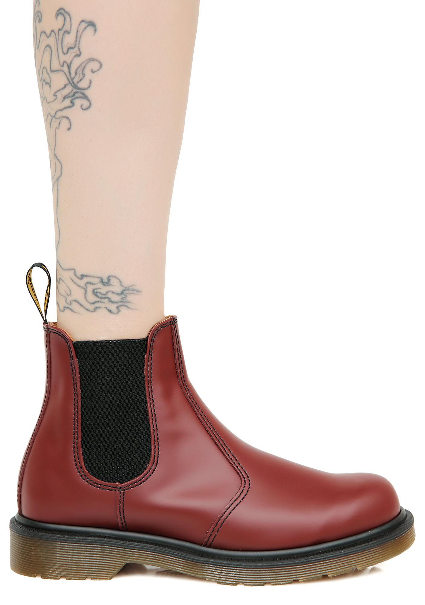 Dr. Martens 2976 8 Eye Yellow Stitch Boots