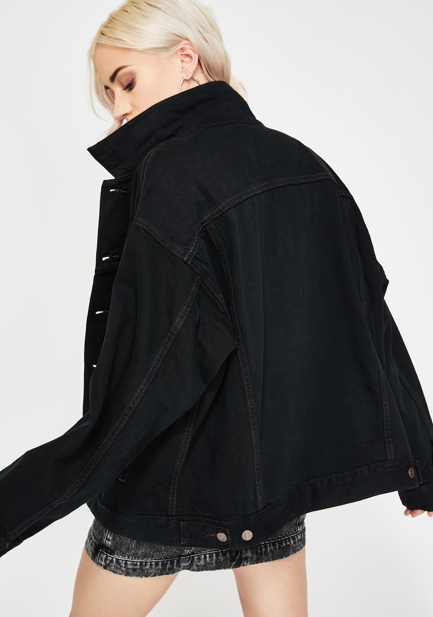 Levis Black Scorpio Dad Trucker Jacket