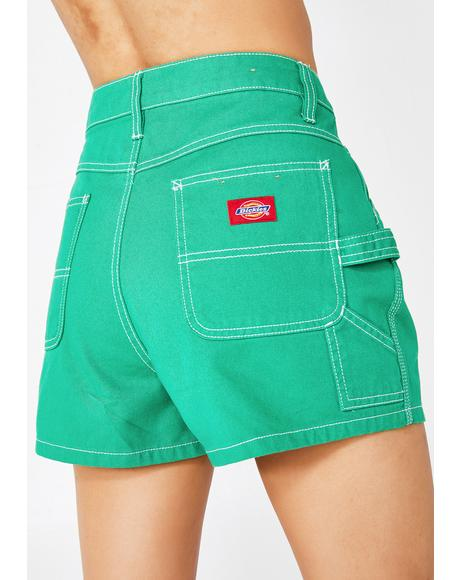 Dank High Rise Carpenter Shorts