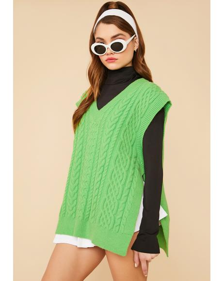 Clover Hit The Books Oversized Sweater Vest