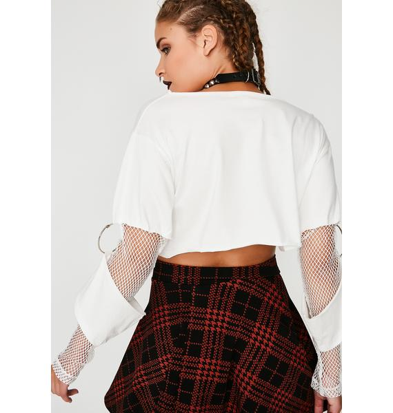 Icy Hotness Cut-Out Crop Top