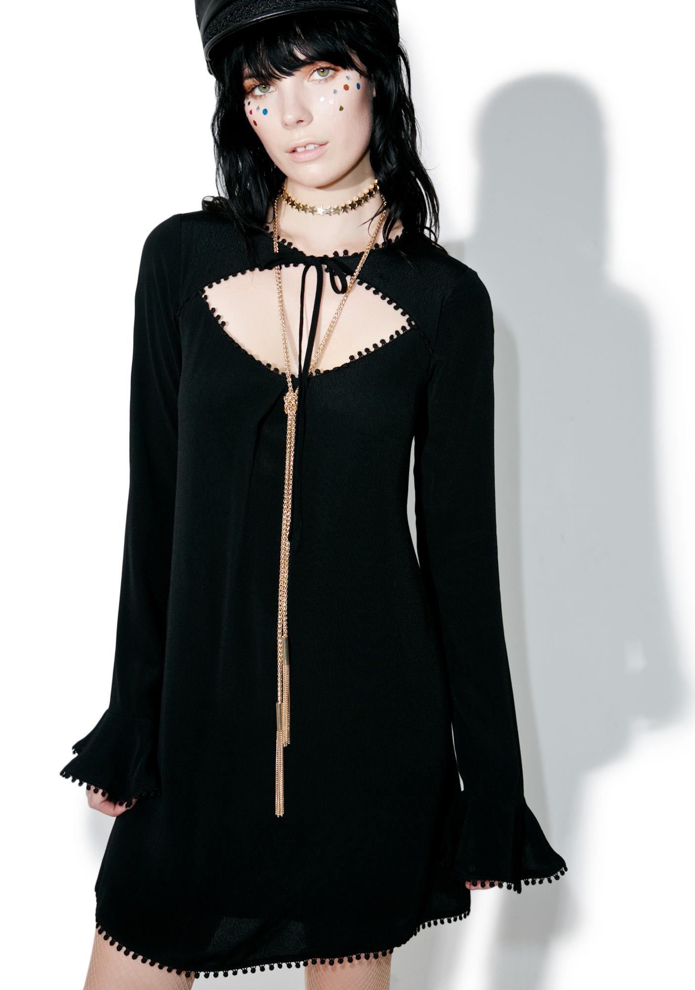 For Love & Lemons Dark Josephina Swing Dress