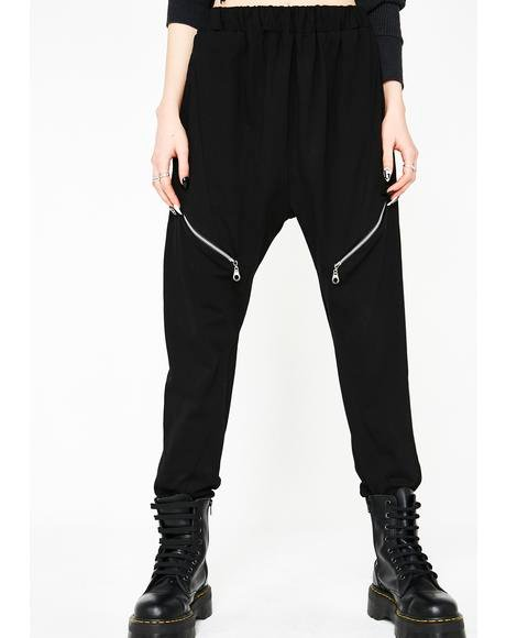 Manic Meltdown Zipper Joggers