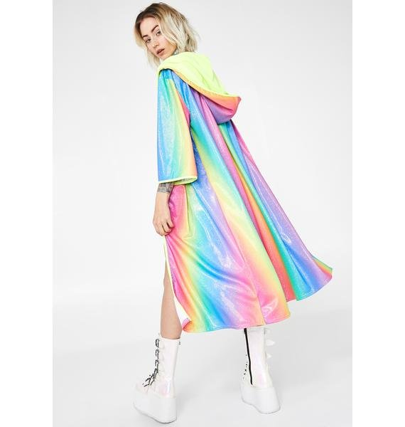 Rolita Rave Couture Glitter Rainbow Kimono