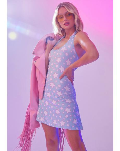 Dancing In Starlight Halter Dress