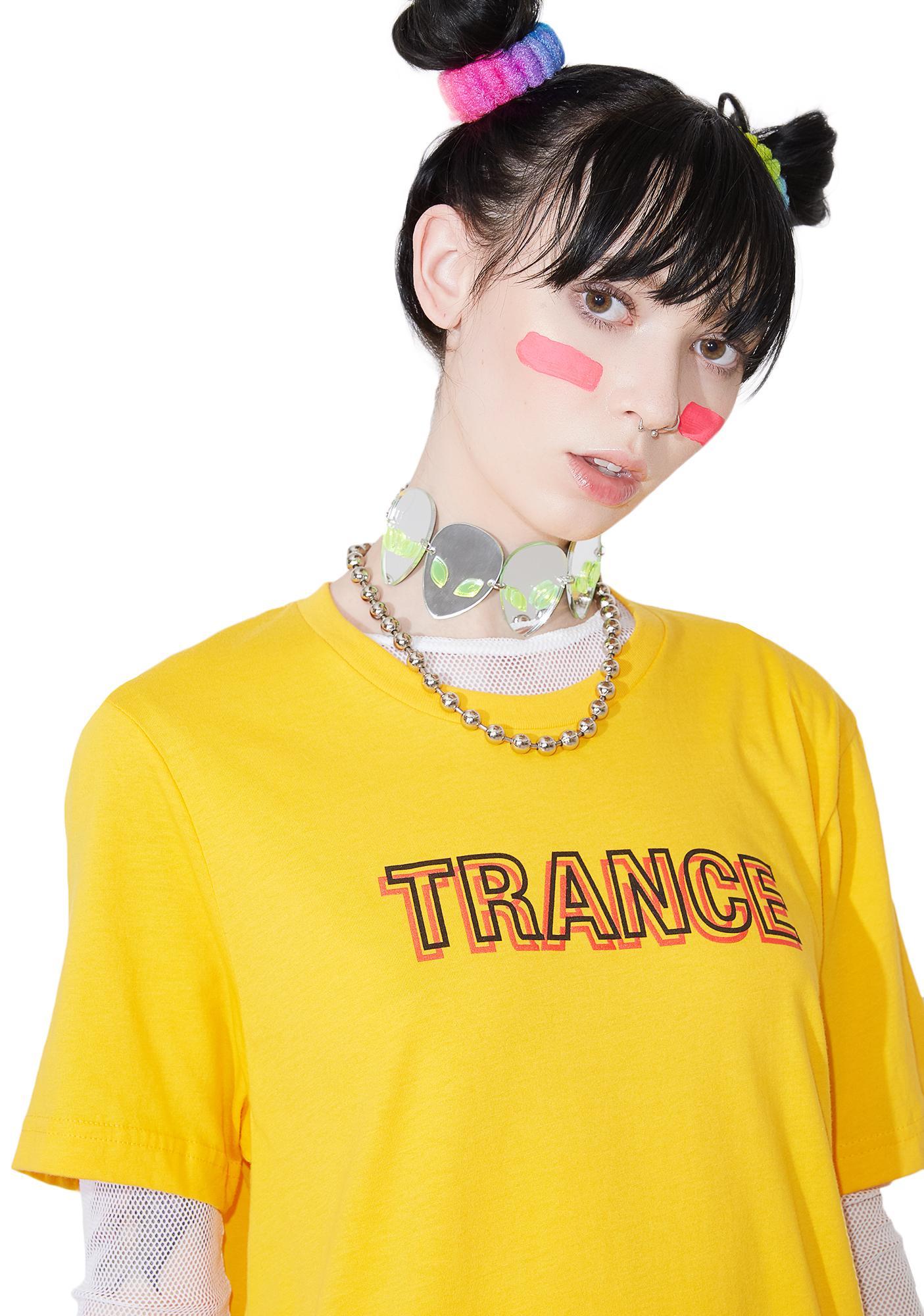 Petals and Peacocks Trance Shirt