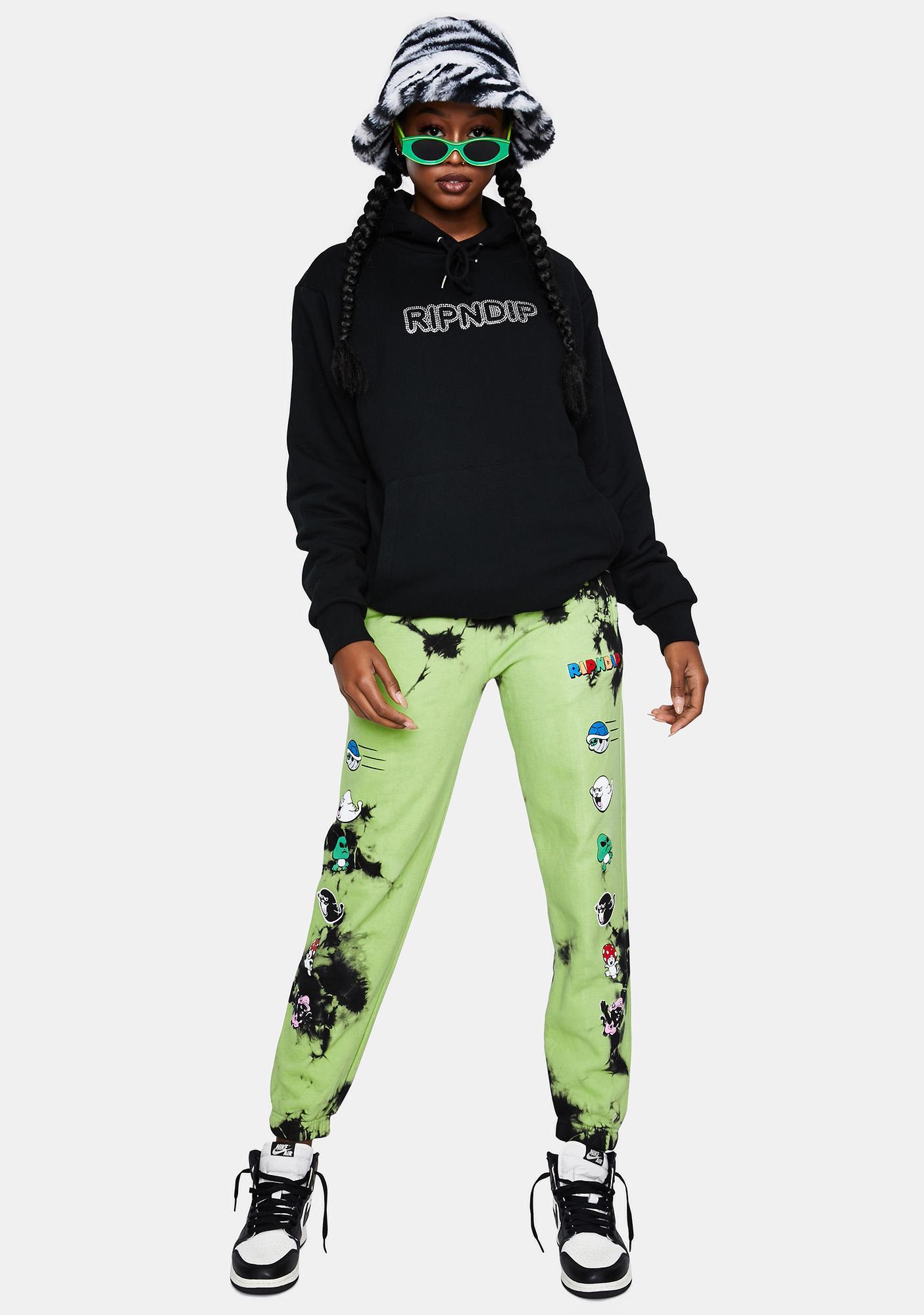 RIPNDIP Green Lightning Nermio Sweatpants