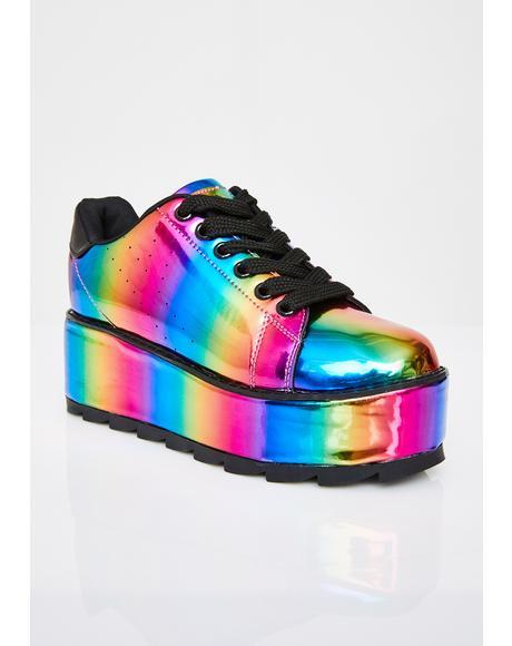 Lala Rainbow Platform Sneakers