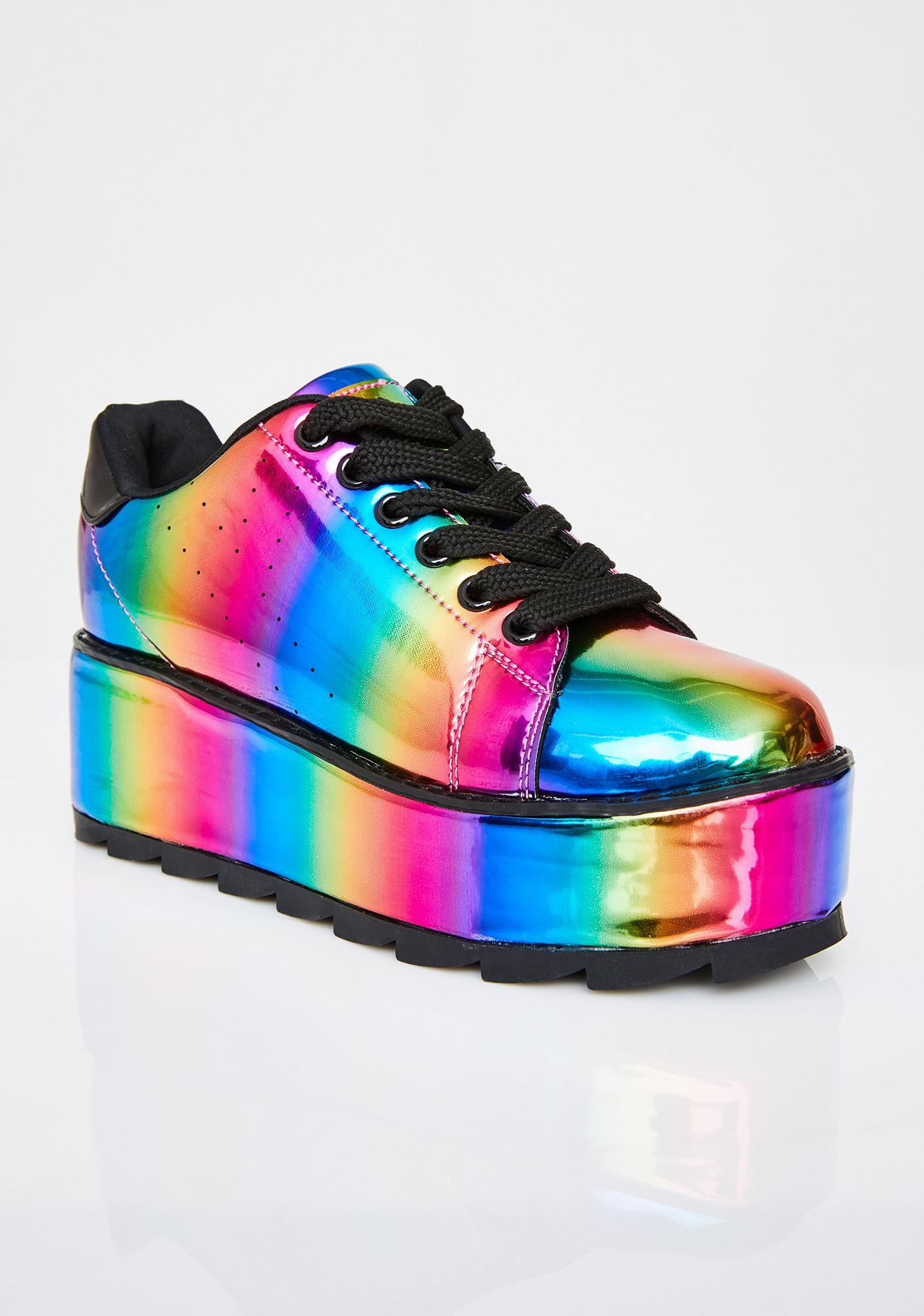 Y.R.U. Lala Rainbow Platform Sneakers