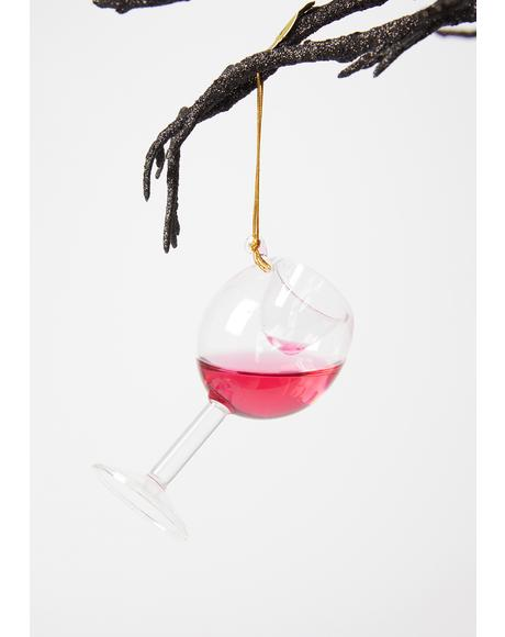 Half Full Wine Ornament