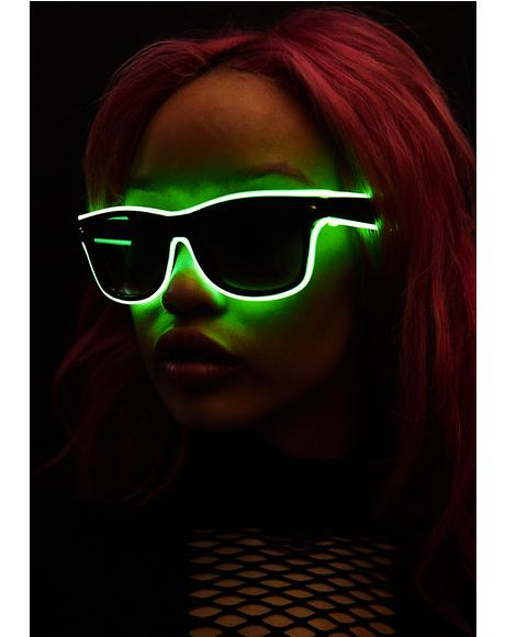 Lime Always Lit Light-Up Sunglasses