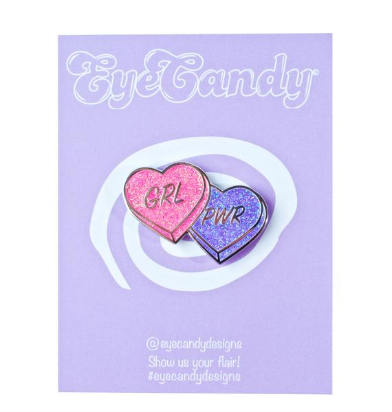 Eye Candy Designs Girl Power Pin
