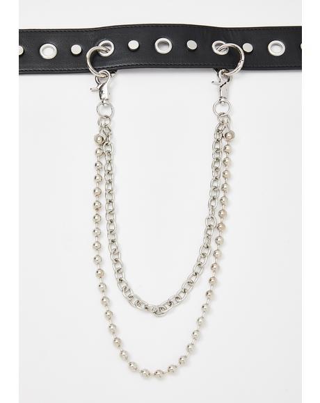 Vandal Studded Chain Belt