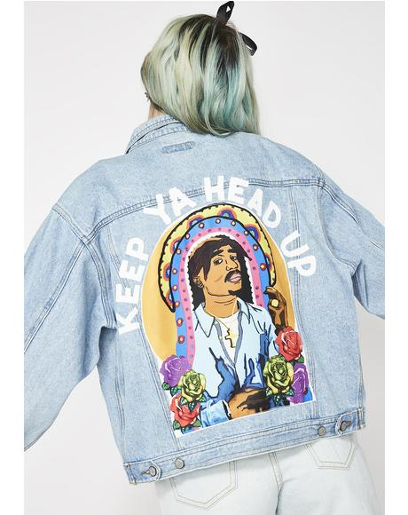 Keep Ya Head Up Denim Jacket