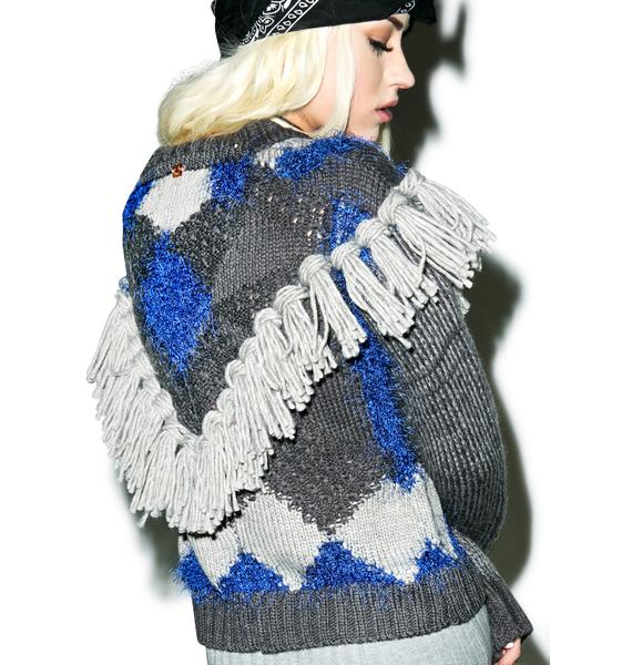 For Love & Lemons Marte Fringe Sweater