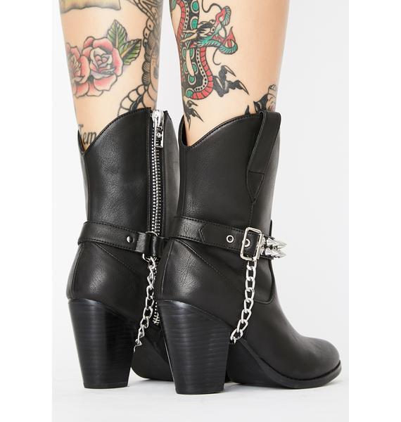 Current Mood Punk Rodeo Cowboy Boots