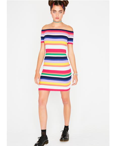 Good Vibes Rainbow Dress