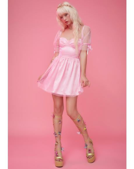 Pure Bliss Rhinestone Babydoll Dress