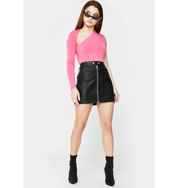 SNDYS. THE LABEL Pink Dany Cut-Out Bodysuit