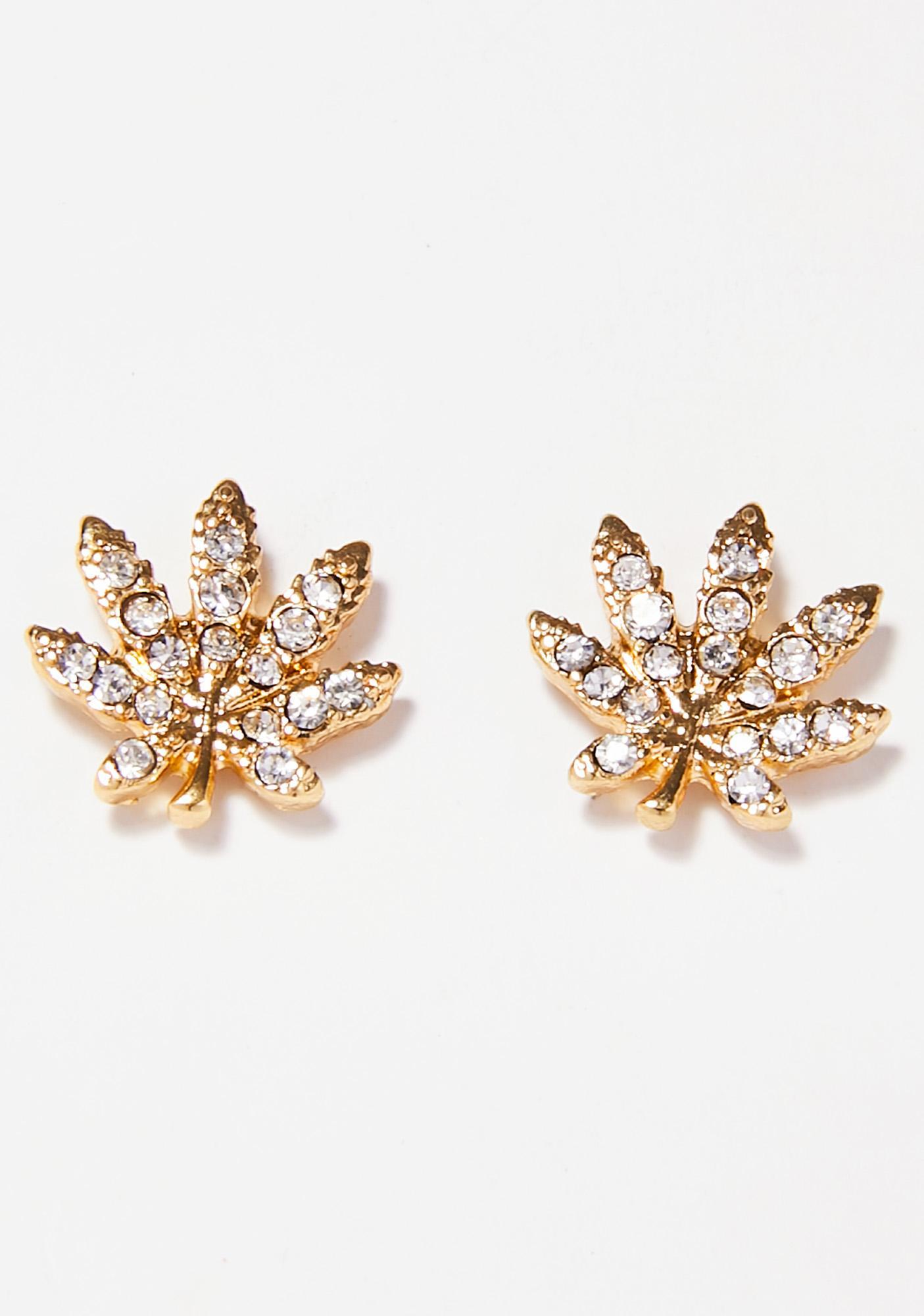 Bout 2 Be Lit Leaf Earrings
