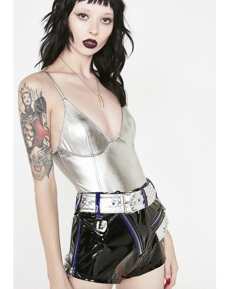 Platinum Drip Metallic Bodysuit