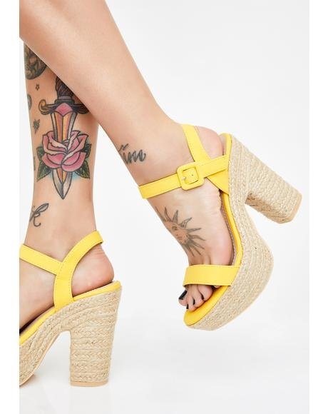 Honey Five O'clock Somewhere Platform Sandals