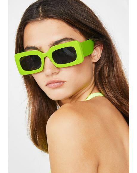Safety Green Rhubic Sunglasses