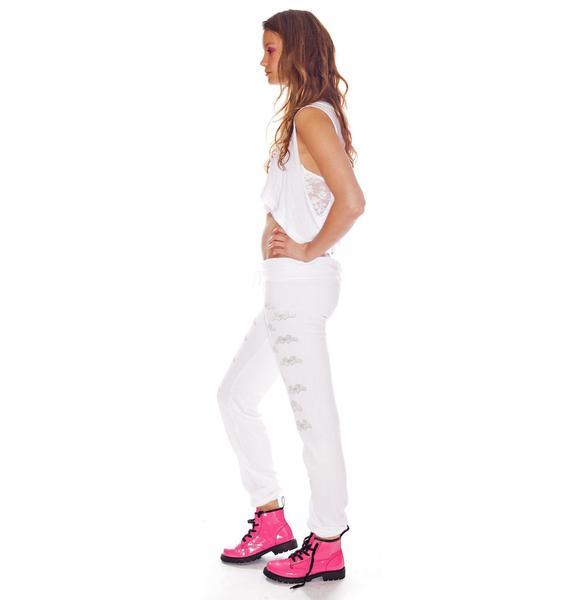 Wildfox Couture Heaven Sent Pants Skinny Sweats