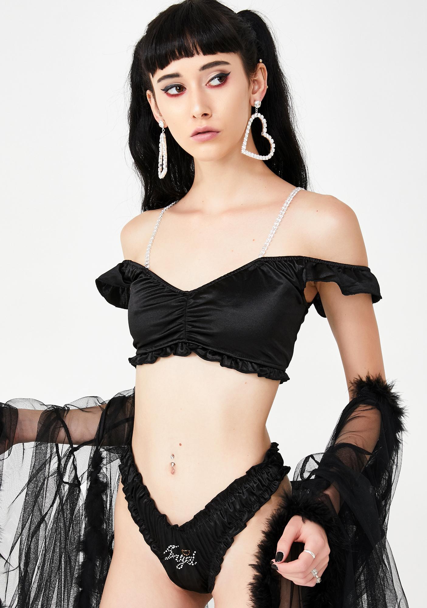 Sugar Thrillz Luna Angelic Reign Satin Set