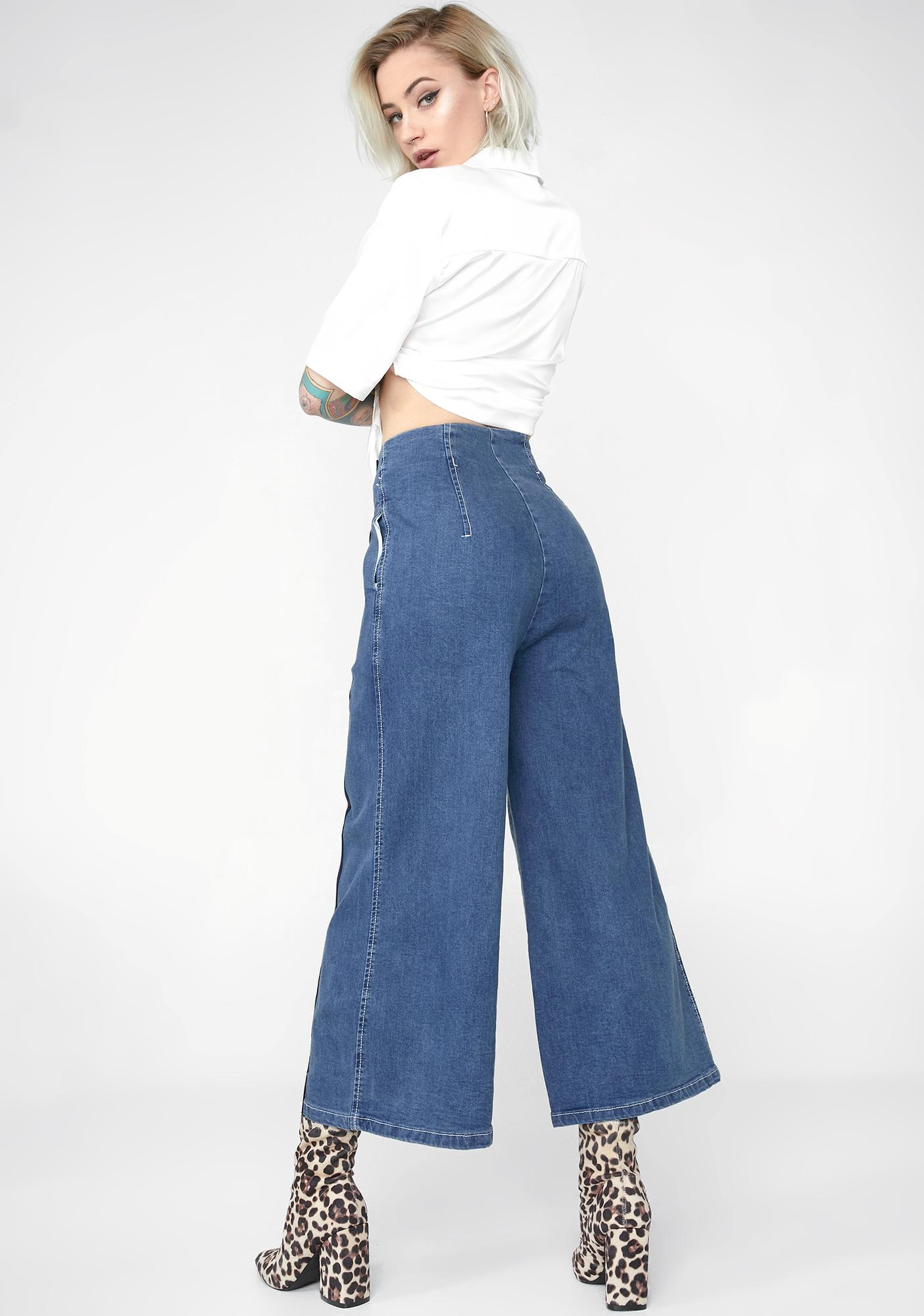 Hall Of Fame Wide Leg Jeans