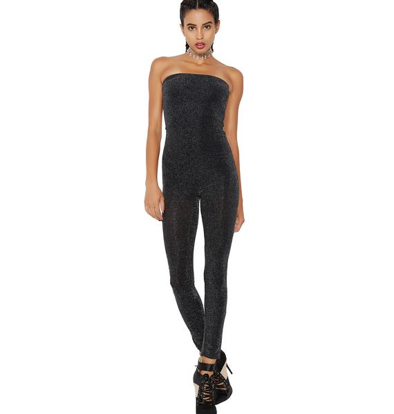 Night Moves Strapless Catsuit