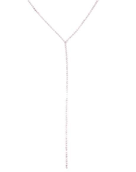 Glimmer Gal Rhinestone Lariat Necklace