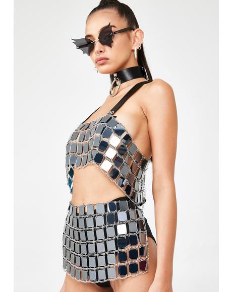 Disco Darkness Chain Belt