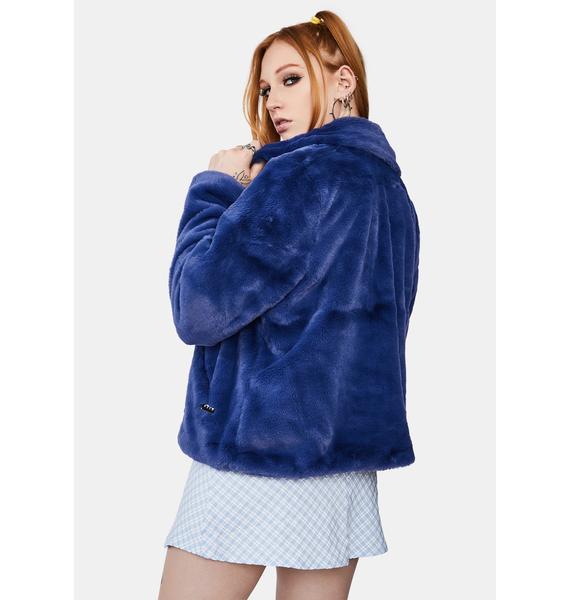 Obey Icon Faux Fur Jacket