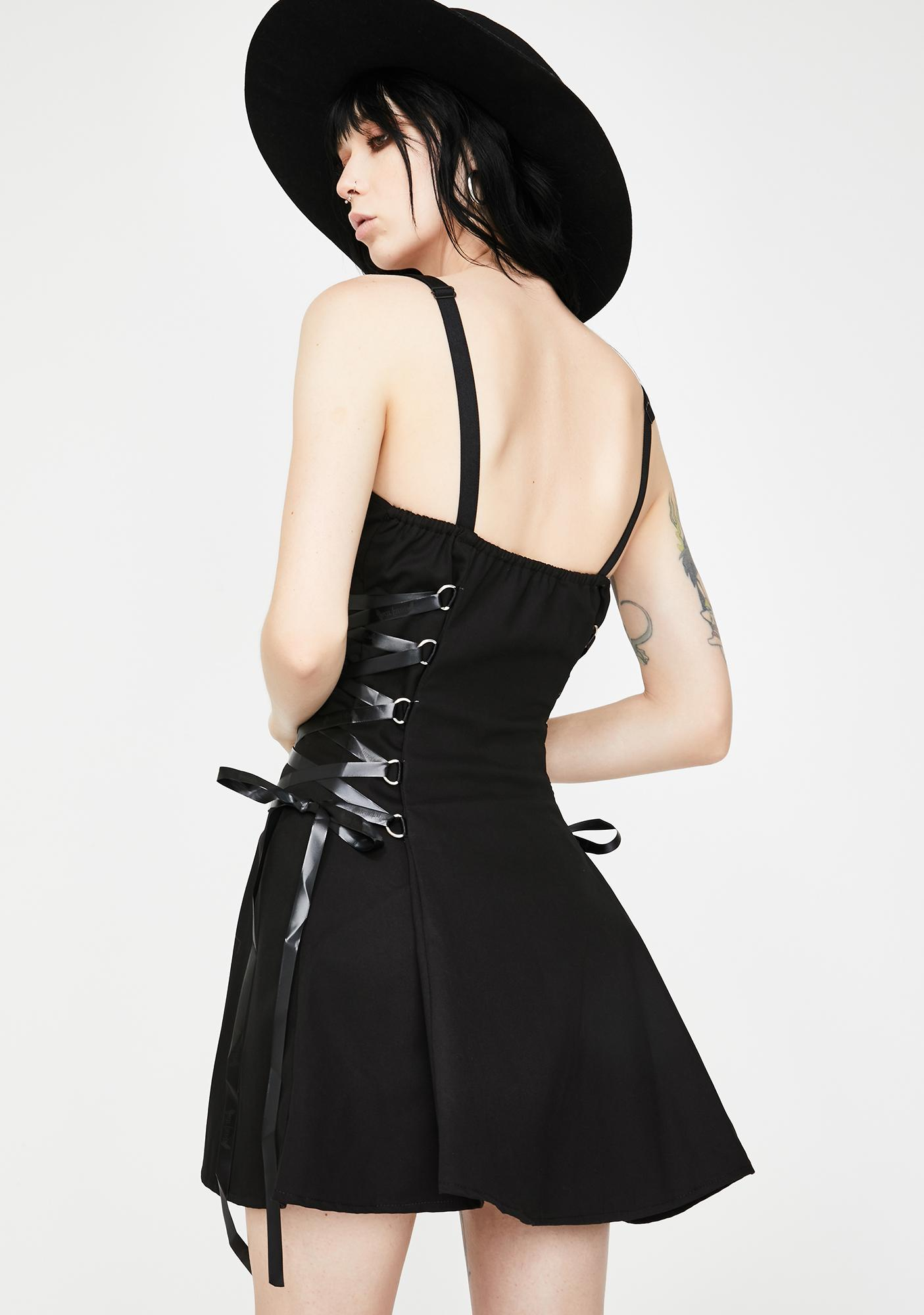 Dr. Faust D Ring Zip Up Mini Dress