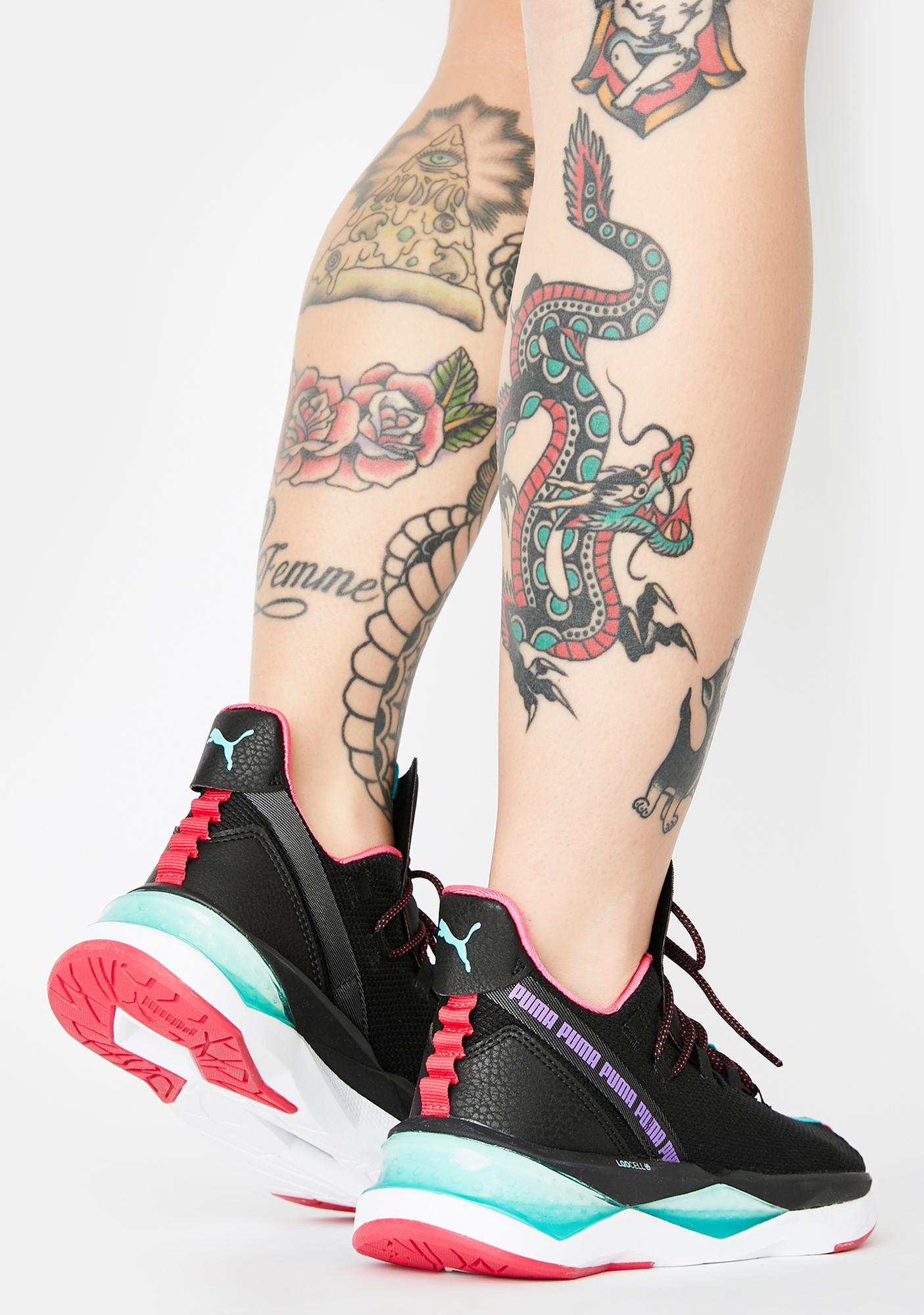 PUMA Black LQDCELL Shatter XT Trail Sneakers