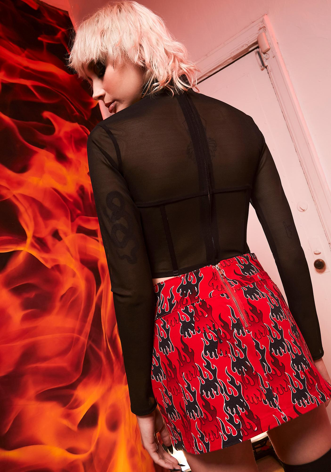 Current Mood Crash Course In Chaos Mini Skirt