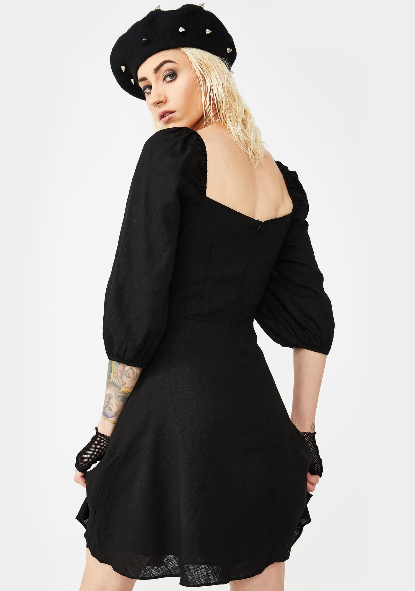 Glamorous Long Sleeve Mini Dress