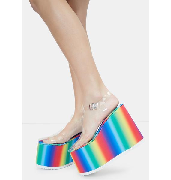 Lemon Drop by Privileged Rainbow Zahara Platform Sandals