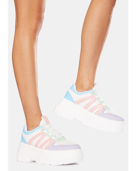 Multi If You Don't Know Platform Sneakers