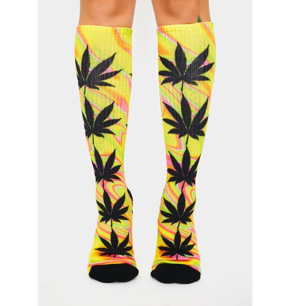 HUF Blazing Yellow Good Trip Plantlife Socks