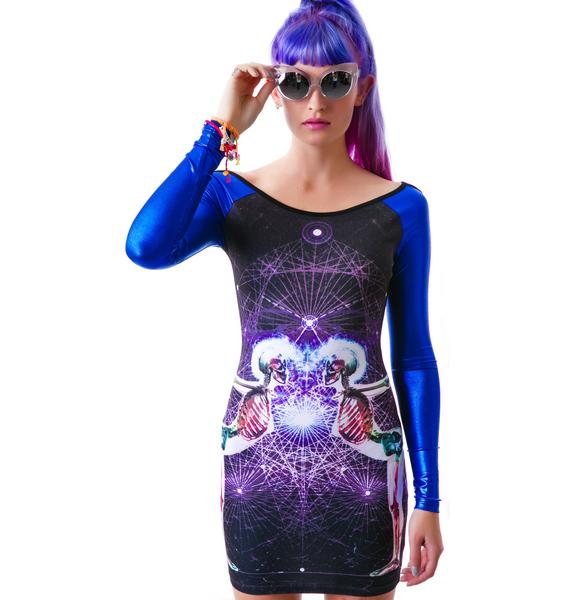 Too Fast Unity Hazard PVC Dress