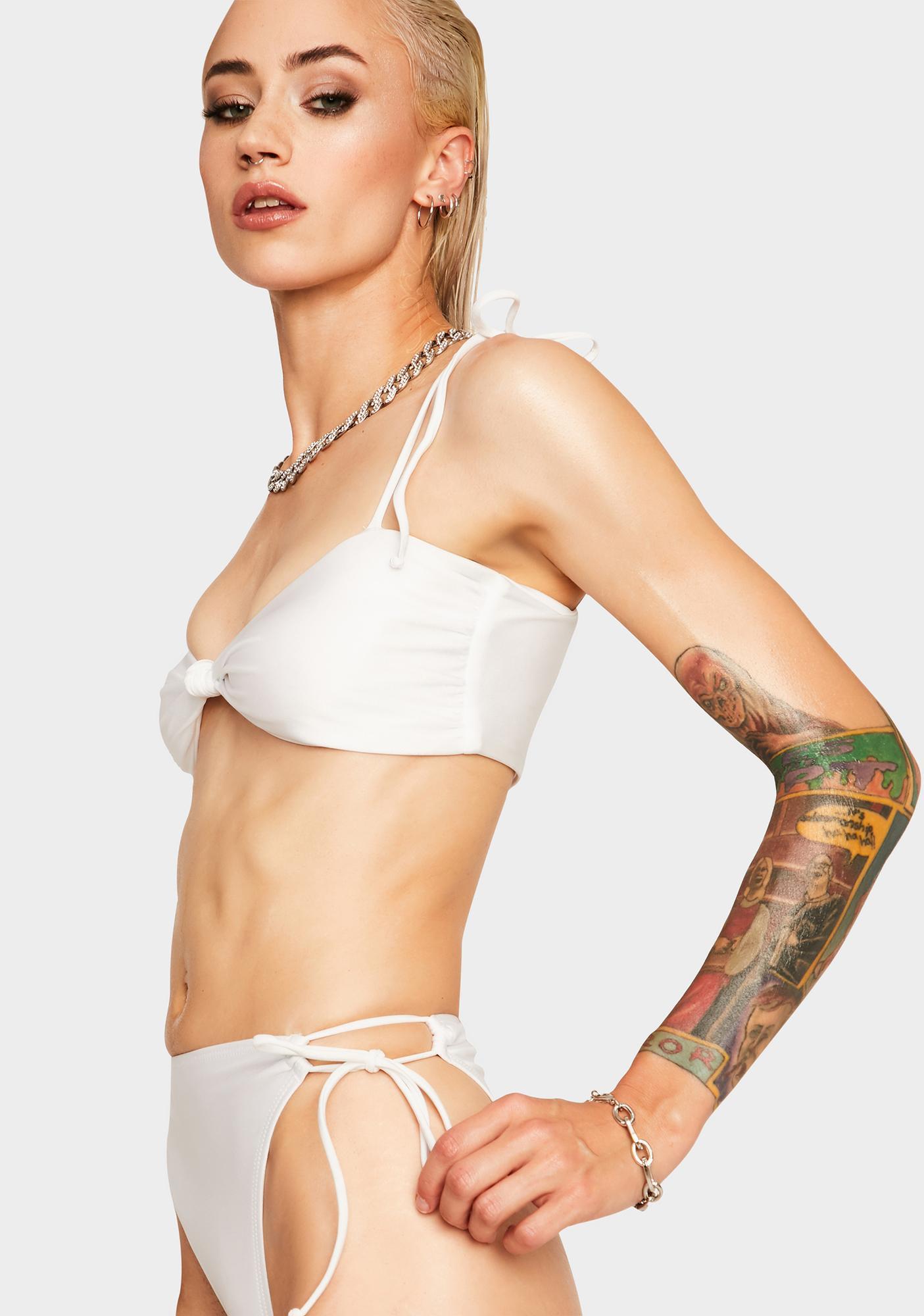 RIS-K White Hiatus Bikini Top